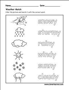Spring summer autumn winter activity sheet for kindergarten ...
