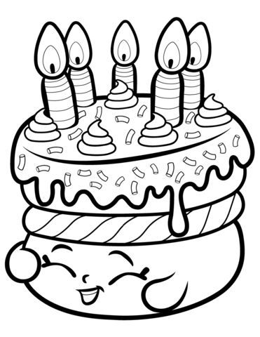 6 Birthday Cake Coloring Pages Shopkins Birthday Cake Coloring Page Color In 2020 Shopkins Coloring Pages Free Printable Birthday Coloring Pages Shopkin Coloring Pages