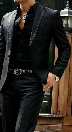 2017 Custom Made Black Casual Style Man Blazer Slim Fit Mens Wedding Prom Dinner Suits 2 Piece Groom Tuxedos Best Man Suit The Suits, Mens Suits, Sharp Dressed Man, Well Dressed Men, Herren Outfit, Mode Masculine, Gentleman Style, Dapper Gentleman, Stylish Men
