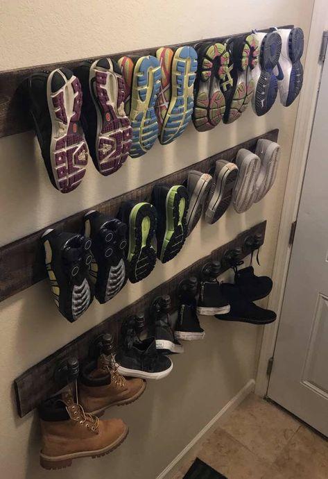 Industrial Pipe Hanging Coat/Shoe Rack