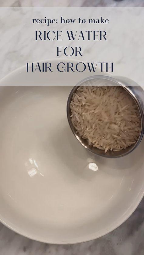 How To Make Rice Water - Rice Water Recipe