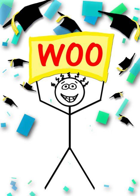 Woohoo Congrats Graduate Card Ad Affiliate Congrats Woohoo Card Graduate Cards Congrats Graduation