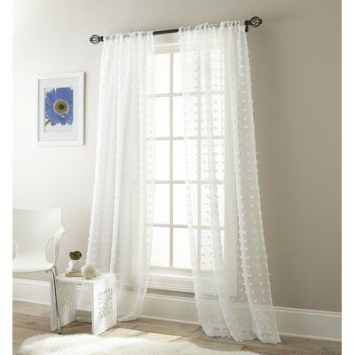 Mistana Aesara Solid Color Sheer Rod Pocket Curtain Panels Color