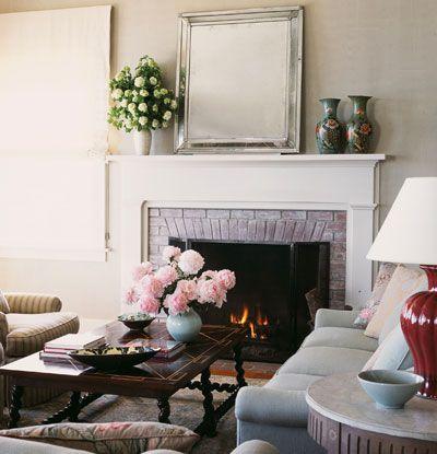 Die besten 17 Bilder zu Mantle auf Pinterest Büchereien, Vasen - rosa wohnzimmer deko