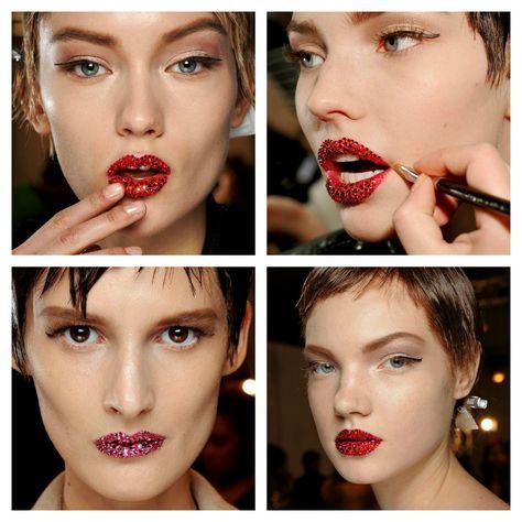 Los mejores momentos de moda y belleza de la Alta Costura primavera-verano 2013: Los labios de Christian Dior