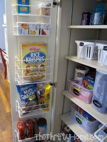 The Thrifty Home Simple Solutions To Organize A Deep Pantry Deep Pantry Deep Pantry Organization No Pantry Solutions