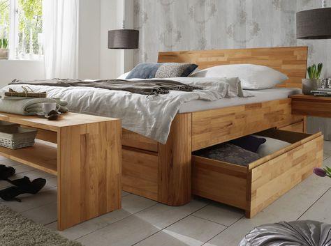 Stauraumbett 140x200 schwarz  Bett