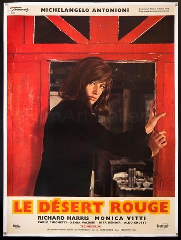 Red Desert Deserto Rosso Vintage Movie Poster French 1 Panel 47x63 Original Film Poster 2272 Movie Posters Vintage Vintage Movies Film Art