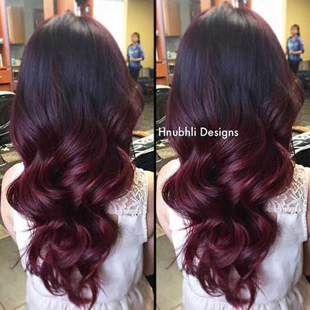 25 Burgund Rot Haarfarbe Ombre Stilidee Farbe Rot Ombre