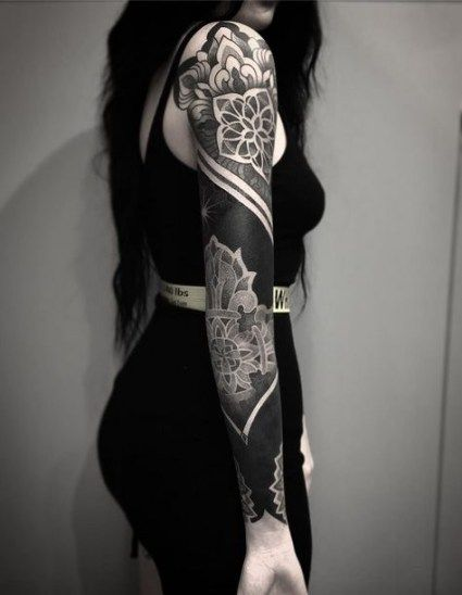 Tattoo For Women Cover Up Artists 52 Ideas Black Sleeve Tattoo Solid Black Tattoo Black Tattoos