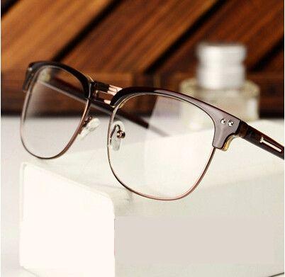 bd9358463303 Fashion Famous Designer Brands Women Men Eye Glasses Frames Korean Vintage  Prescription Big Nerd Glasses Frames Free Shippi…