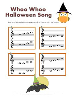 halloween music worksheets treble clef notes melody pinterest halloween music music worksheets and treble clef