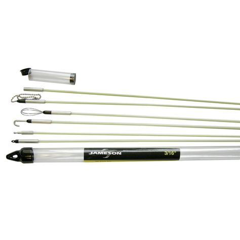 Jameson 7s65k Deluxe Glow Rod Wire Electrical Fishing Kit With Accessories And 30 Total Feet Of Fiberglass Rod Details Can Be Found By Click Fishing Rod Holder