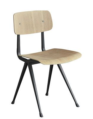Hay Result Chair Black Natural Wood Made In Design Uk Chaise Fauteuil Design De Table Chaise Design