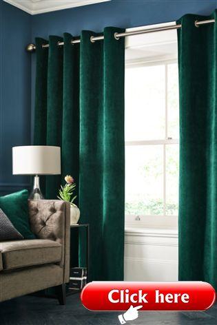 Emerald Green Soft Velour Eyelet Curtains 2019 Curtains Diy Emerald Green Living Room Green Curtains Living Room Living Room Green