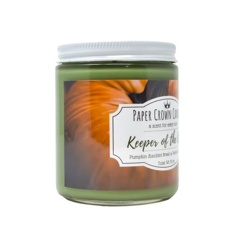 Don't let looks deceive you! In this candle, freshly harvested pumpkin has been added to a traditional zucchini bread scent and topped with vanilla glaze for an extra dose of sweetness, this fragrance is sure to become your new favorite! SCENTSPumpkin Zucchini Bread & Vanilla Glaze Icing MATERIALSSoy wax, liquid dye, natural and synthetic fragrance oils, glass jar.Each of our candles is carefully hand-poured in small batches in our home studio in sunny Sarasota, Florida. Made in a glass jar