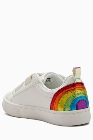Buy White Velcro Rainbow Trainers