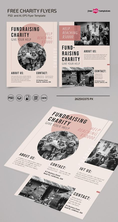 Free Charity Flyer Template (PSD, AI, EPS)