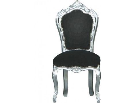 Casa Padrino Barock Esszimmer Stuhl Schwarz Silber Mobel Dining Chair Makeover Chair Makeover Baroque Furniture