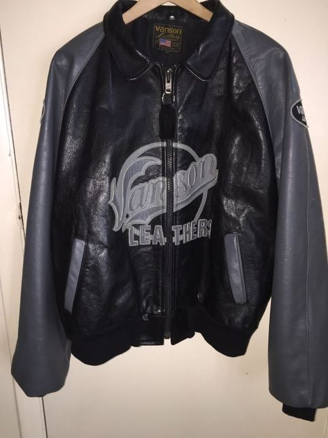 7167698dfa65 Vanson Leather Motorcycle Jacket, black Size 50 Pre-owned #Vanson # Motorcycle