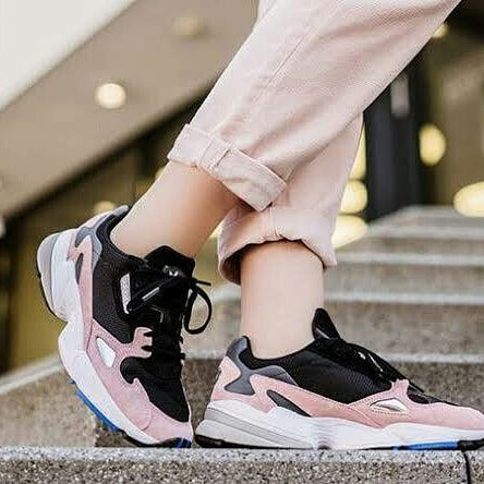 Reposted From Zaenall Shoes Adidas Falcon Blak Pink Ready Size