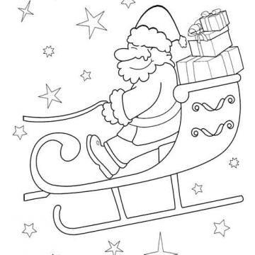 Pin Von Andreia Couto Auf Kolorowanki Weihnachtsmann Schlitten Ausmalbilder Weihnachtsmann Weihnachtsmann