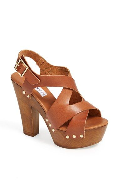 Steve Madden 'Oaklee' Wooden Platform Sandals | My Style | Pinterest | Steve  madden, Sandals and Shapes
