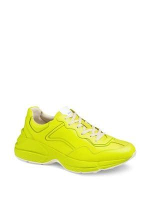 878b0c503 GUCCI Rhyton Fluorescent Leather Sneaker. #gucci #shoes | Gucci in ...
