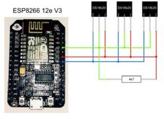 ESP8266 and Multiple Temperature Sensors DS18b20 With HTTP Server