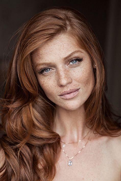 make-up inspiration for the freckled bride