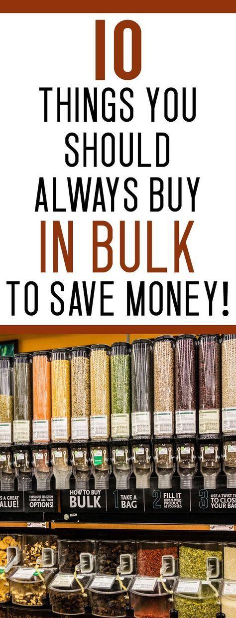 10 Things I ALWAYS Buy in Bulk to Save Money
