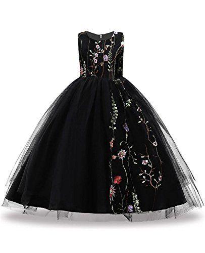 Big Size 7-16 Formal Wedding Dresses For Kids Bridesmaid Flower Girls Dress  Up Ball Gown Tutu Sundress Casual Bride Long Tutu Puffy Elegant Junior  Poofy ... 4520c032470f