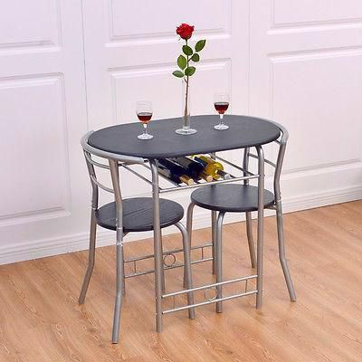 Kitchen 3 Pcs Bistro Dining Set Table And 2 Chairs Kitchen Furniture Pub Home Restaurant Dining Table Setting Pub Table Sets Furniture