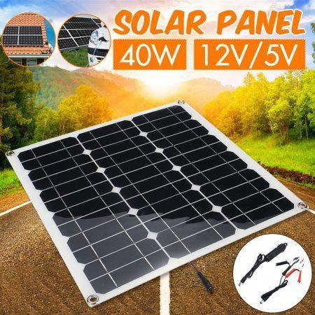 12v 5v 15w 20w 40w Flexible Semi Solar Panel Portable Controller Controlle Polysilicon Off Grid Kit Waterproof For Car Battery In 2020 Solar Panels Solar Solar Charger