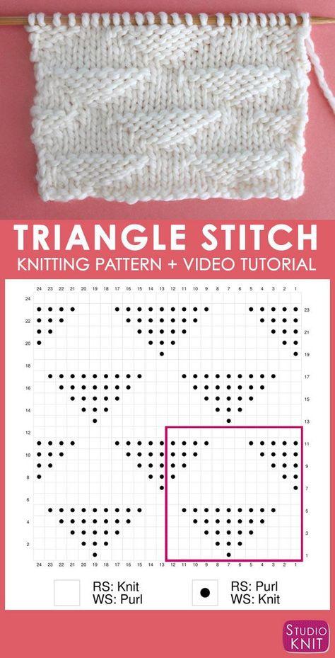 197eec9f3 Triangle Knit Stitch Pattern