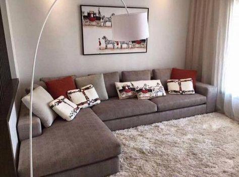 Salon Marocain Moderne Gris Rouge En L De Interieur Sur