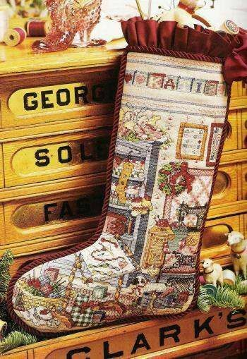 Kooler Design Studio Stitcher S Studio Heirloom Stocking Cross Stitch Pattern Cross Stitch Christmas Ornaments Cross Stitch Christmas Stockings Cross Stitch Stocking