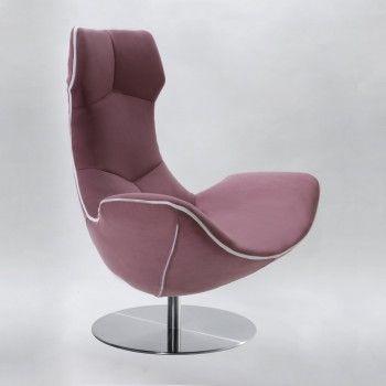 Marine Blau Drehstuhl Stilvolle Sessel Funky Sessel Leder
