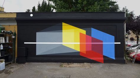 Exterior Mural : A Universe in Testaccio 20ft. x 10ft. : Latex Paint 999 Contemporary : Rome IT