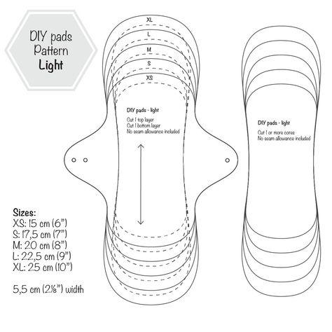 Light Flow Menstrual Cloth Pads PDF Sewing Pattern