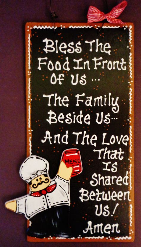 Stained Sign FAT CHEF Overlay RULES OF THIS KITCHEN Plaque Wall ...