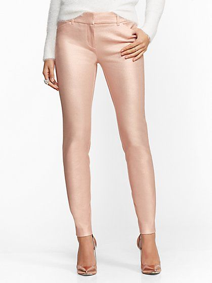 The Audrey Pant Rose Gold Metallic New York Company Gold Pants Outfit Leggings Are Not Pants Rose Gold Clothes