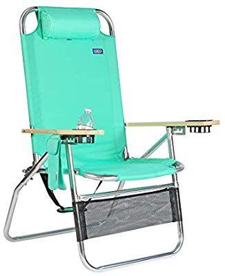 Copa Big Papa 17 Inch Hi Seat Heavy Duty Beach Chair Green Heavy Duty Beach Chairs Beach Lounge Chair Green Chair