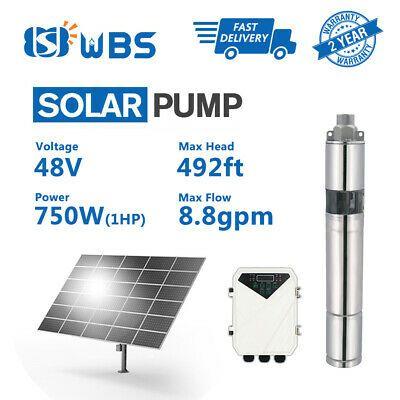 3 Dc Screw Solar Water Pump 48v 750w Submersible Well Garden Irrigation Kit 1hp Ebay In 2020 Solar Water Pump Solar Irrigation