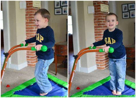 #JumpSport iBounce, Joshua's havin' a ball!