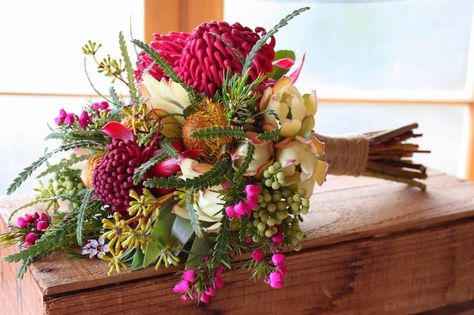 Boronia Bouquet Google Search Red Bouquet Wedding Bridesmaid Flowers Spring Wedding Flowers