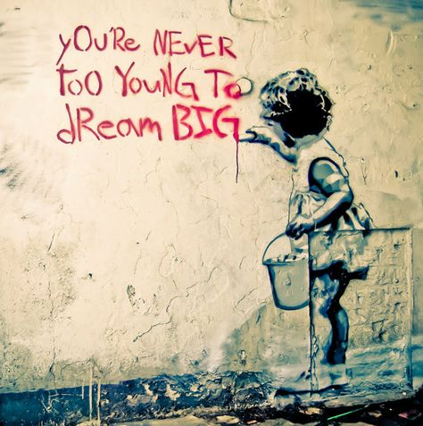 Banksy Canvas (READY TO HANG) - Dream Big - Multiple Canvas Sizes