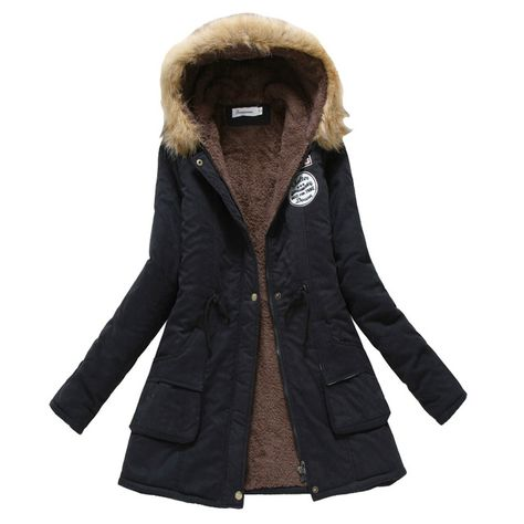3487c233371 Special price Winter Coat Women 2017 New Parka Casual Outwear Military  Hooded Thickening Cotton Coat Winter Jacket Fur Coats Women Clothes D21  just only ...