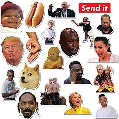 Send Memes Sticker for Laptops and Water Bottles
