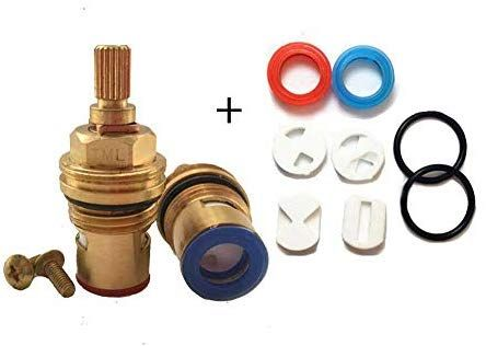 Replacement Ceramic Disc Tap Valve Cartridge Quarter Turn 1 2 20 Teeth X 53mm Solid Brass Screws Tap Valve Ceramics Solid Brass